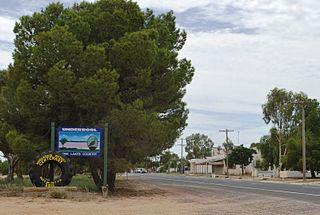 Underbool Town in Victoria, Australia