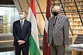 Ungārijas Nacionālās asamblejas priekšsēdētāja oficiālā vizīte Latvijā 01.jpg
