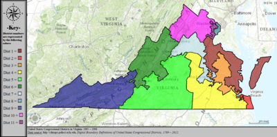 United States Congressional Districts in Virginia, 1995 – 1998.tif