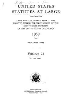 United States Statutes at Large Volume 73.djvu