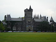 The historic University College, the founding college of the University of Toronto.