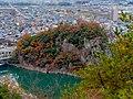 Unuma Castle Rocky hill from Observation platform of Inuyama Zenkoji.jpg