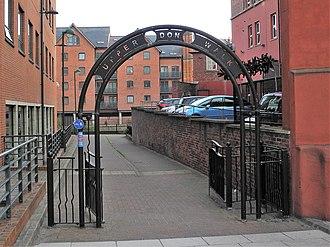 Upper Don Walk - The start of the walk at the Riverside Exchange quarter in Sheffield.