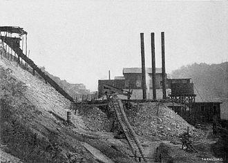 New Cumberland, West Virginia - Clay mines in New Cumberland, 1907