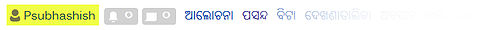 Username hightlighted in Odia-language Wikimedia projects.jpg