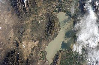 Utah Lake - Satellite photo of Utah Lake