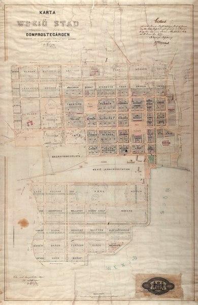 File:Växjö Stadsplan 1875.djvu
