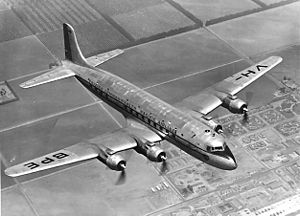BCPA Flight 304 - The ill-fated VH-BPE.