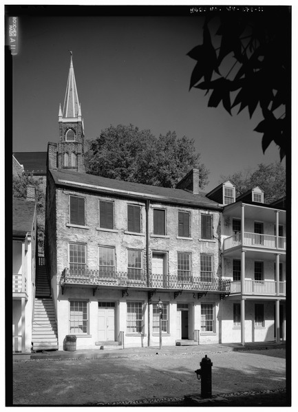 File:VIEW FROM SOUTH SOUTHWEST - Masonic Hall, Shenandoah Street, Harpers Ferry, Jefferson County, WV HABS WVA,19-HARF,36-11.tif