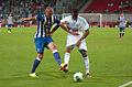Valais Cup 2013 - OM-FC Porto 13-07-2013 - Maicon et Jordan Ayew 3.jpg