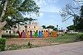 Valladolid city sign by church Yucatan 2017.jpg