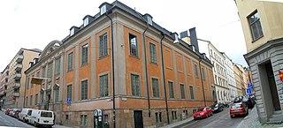 Van der Nootska Palace building in Stockholm Municipality, Stockholm County, Sweden