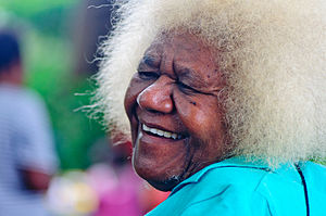 Women in Vanuatu - A portrait of an old woman from Vanuatu, September 2012.