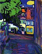 Vassily Kandinsky, 1908 - Houses in Murnau on Obermarkt.jpg