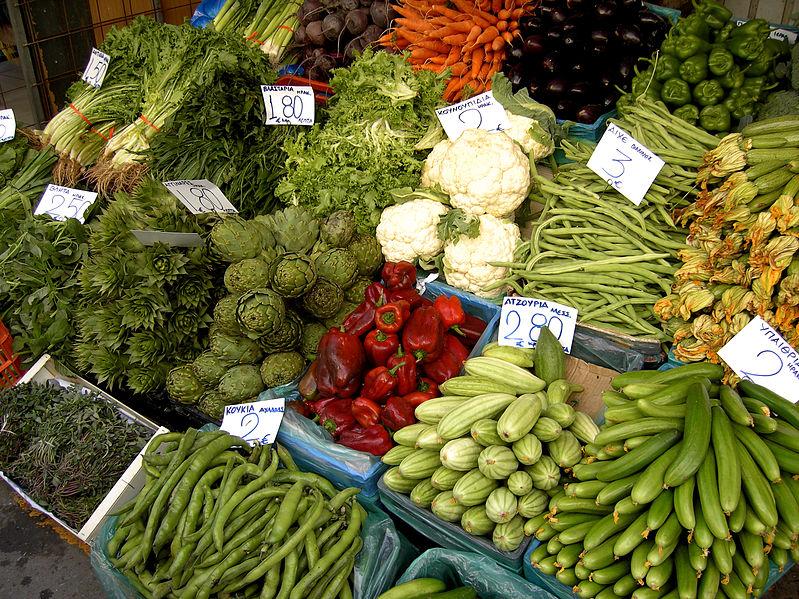 Vegetable Market in Heraklion via Wikimedia Commons