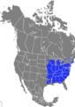 Verbreitung der Amerikanische Weiß-Eiche.png