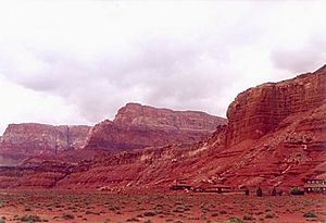 Vermilion Cliffs - Vermilion Cliffs, view from Glen Canyon near Lee's Ferry.