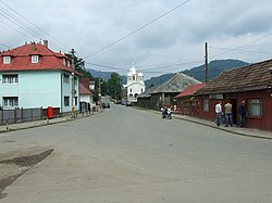 One of many streets in the center of Vişeu de Sus