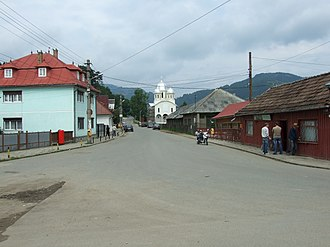 Vișeu de Sus - One of many streets in the center of Vișeu de Sus