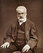 Black and white photo of Victor Hugo
