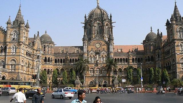 železničná stanica v Mumbai, India