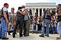 Vietnam veterans meet at the Lincoln Memorial.jpg