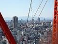 View from Tokyo Tower's stairway, heading for Azabu and Mt.Fuji - panoramio.jpg