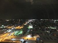 View of Akita City from ALVE, at night, 20120105.jpg