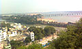View of Krishna river and Vijayawada from Indrakeeladri 03.jpg
