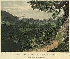 View of Llangollen vale from Nant y Bellan