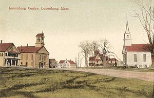 Lunenburg, Massachusetts - Town center c. 1910