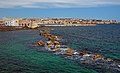 View of Syracuse and Mount Etna from Lungomare Di Levante Ortigia. Sicily, Italy.jpg