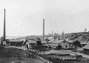 Vinterviken - The factory area, ca. 1900