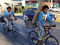 Virgin of Guadalupe Pilgrims on Bicycles - Campeche - Mexico - 01.jpg