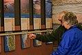 Visitors view a geological timeline. (2b2bf412-355c-4532-b7a0-4336742a0c2b).jpg