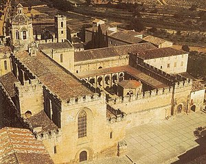 Santes Creus - Aerial view.