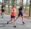 Vrouwen jong en oud deden mee met marathon Rotterdam 2015.jpg