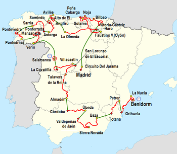 benidorm mapa espanha 2011 Vuelta a España   Wikipedia benidorm mapa espanha