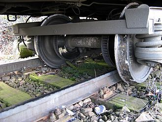 Derailment - Detail of derailed express train in Prague, Czech Republic (2007)