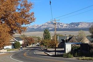 Milford, Utah - Facing east along West Center Street (SR-21), October 2017