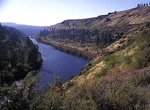 Thorp, Washington - The Yakima River canyon near the town of Thorp.