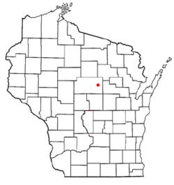 Location of Ringle shown in Wisconsin
