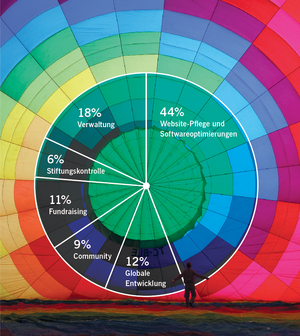 WMF annual report 2010-11, financials pie chart DE.png