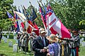 Waite Rawls and color guard - Confederate Memorial Day - Arlington National Cemetery - 2014.jpg