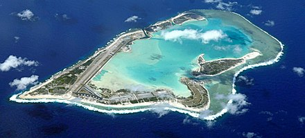 Aerial overview of the Wake Island atoll, part of the Pacific Remote Islands Marine National Monument. Wake Island air.JPG