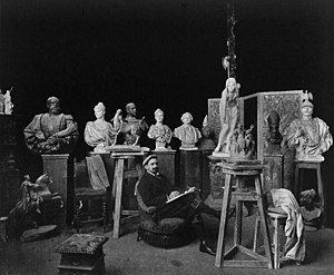 Walter Schott - Walter Schott in his studio (1899)
