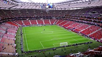 2014–15 UEFA Europa League - Image: Warsaw National Stadium before Germany Italy (6)