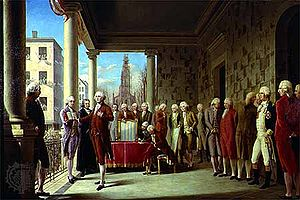 Presidency of George Washington - Washington's first inauguration, April 30, 1789
