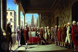 First inauguration of George Washington 1st United States presidential inauguration