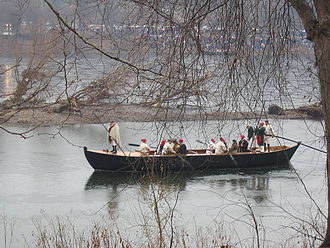 Durham boat - Durham boat used in a reenactment of Washington's crossing of the Delaware River